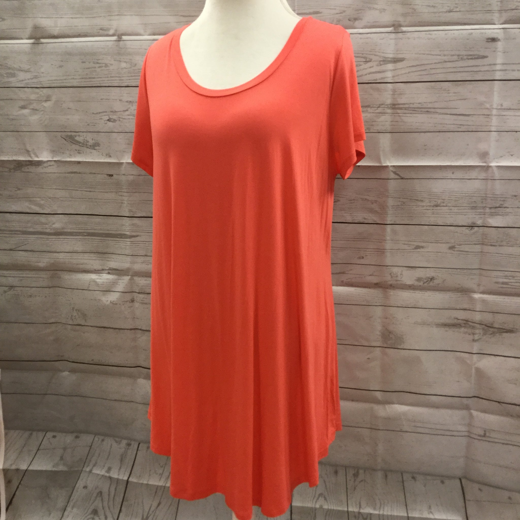 Plus Size Basic Coral  Top