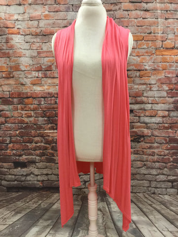 Pointed Edge Coral Vest