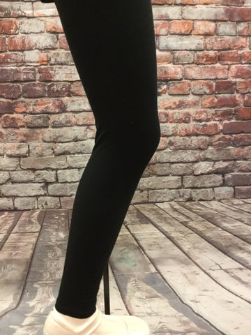 Solid Black Girls Leggings