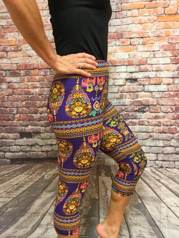 African Adverture Print Capri