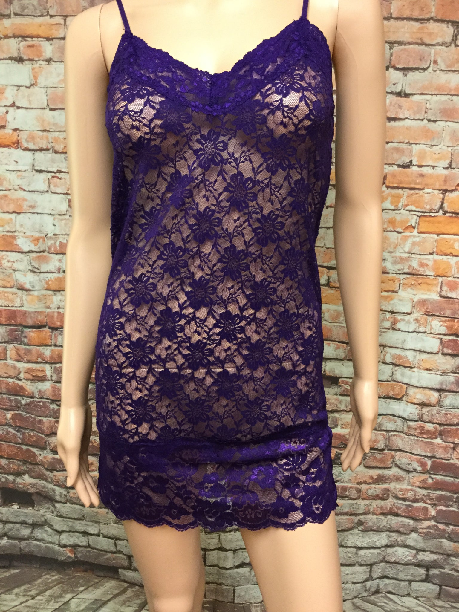 Lace Purple Tank Top