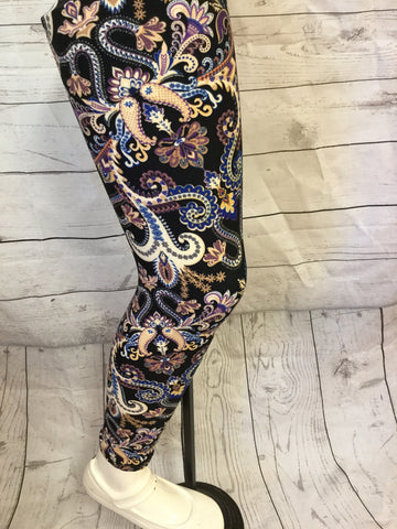 Buttered Up Paisley Girls Leggings