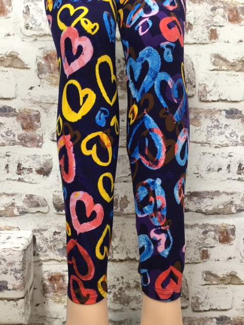 Hearts of Color Printed Leggings