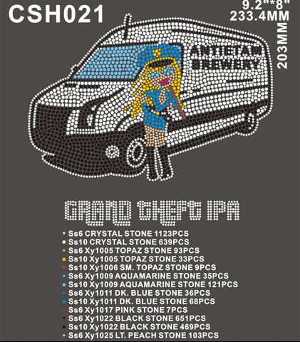 Antietam Brewery Grand Theft Auto 30 PIECES