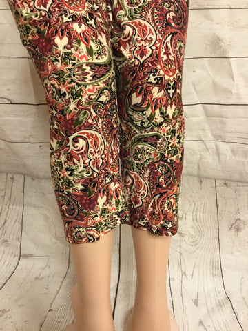 Vine and Barley Print Capri