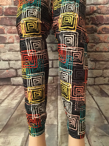 3X/4X MAZED AND COMFY LEGGINGS