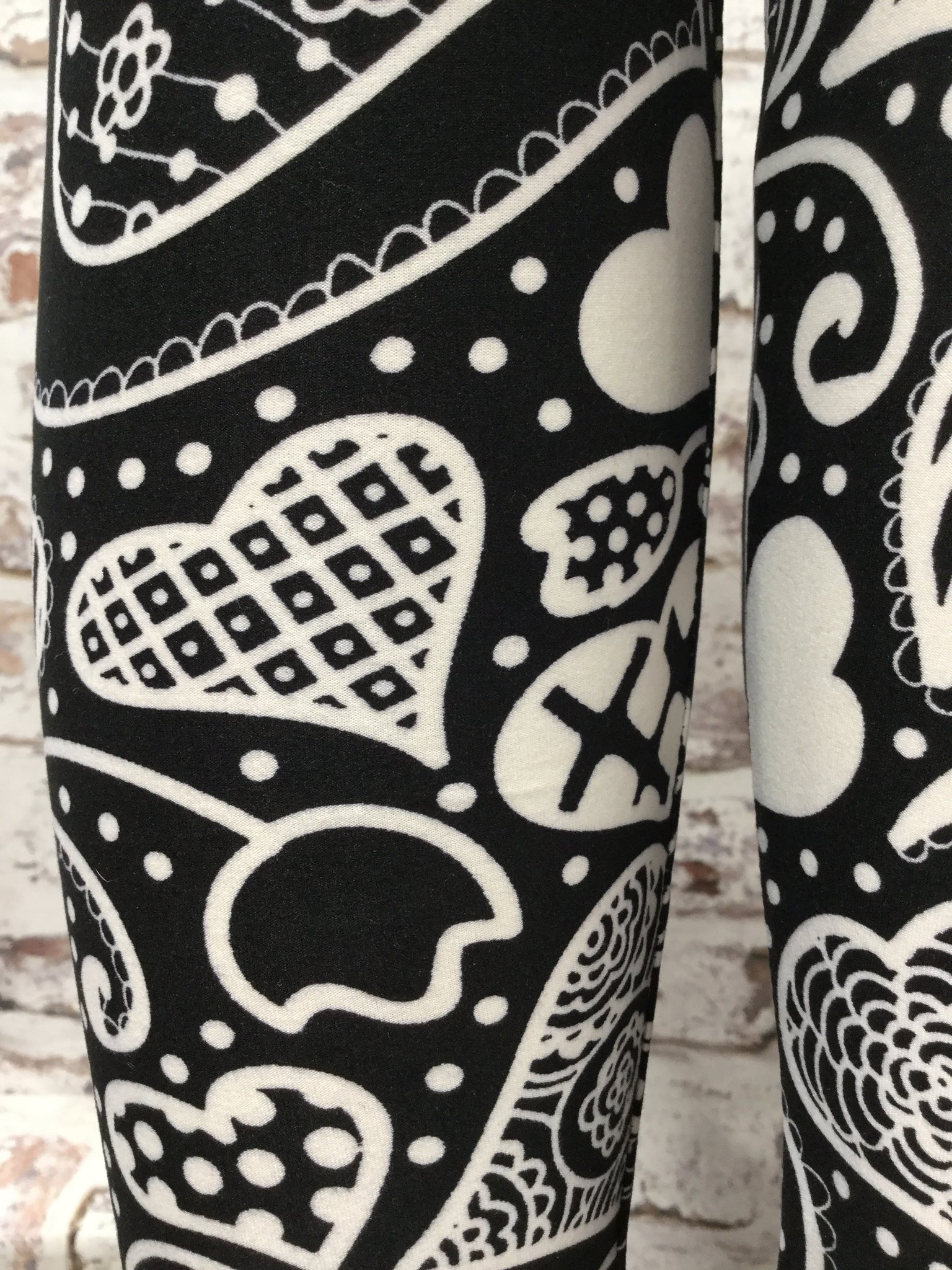 Paisley Heart Printed Leggings