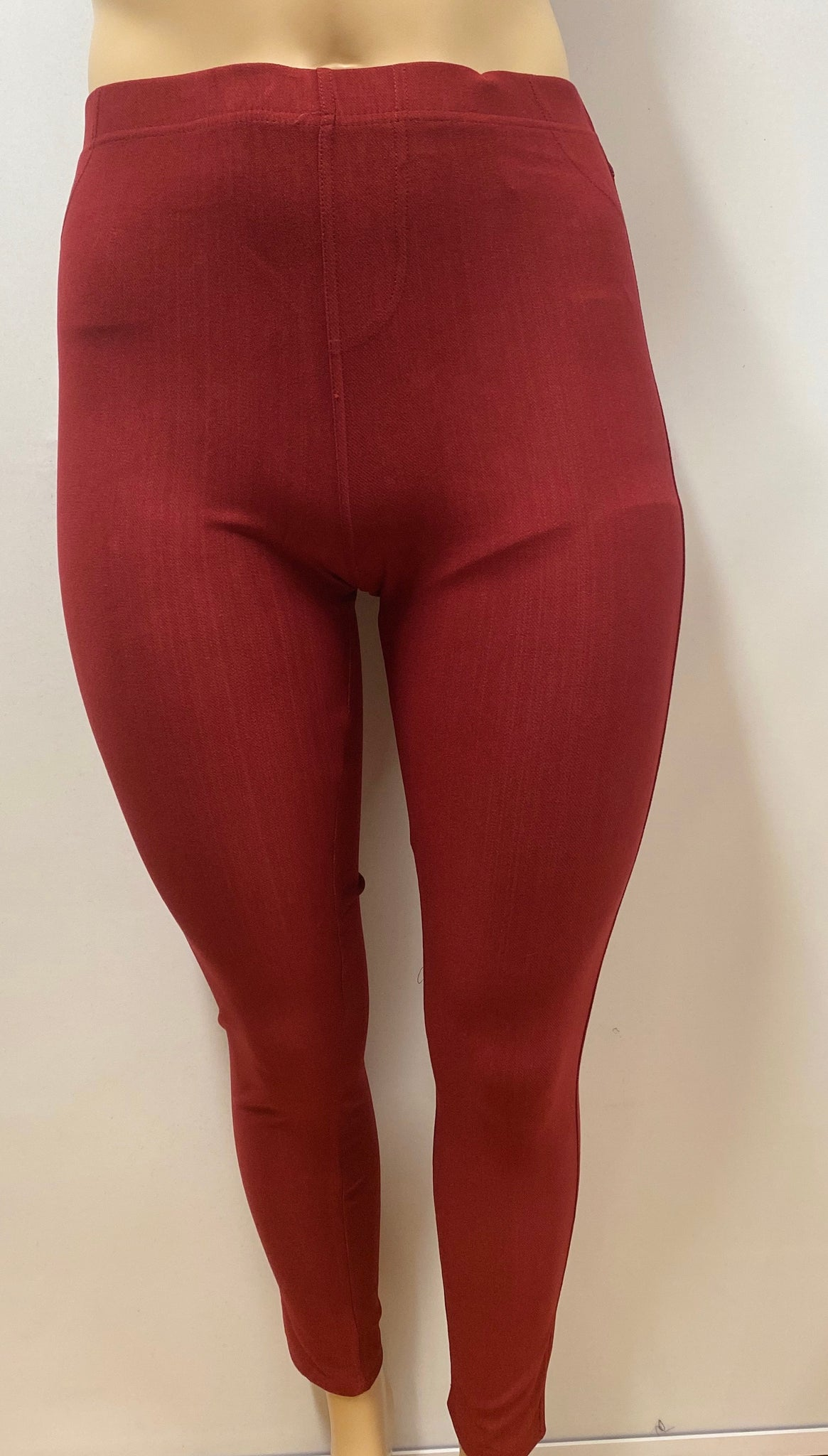 Plus Size  Burgundy  Classic Jeggings