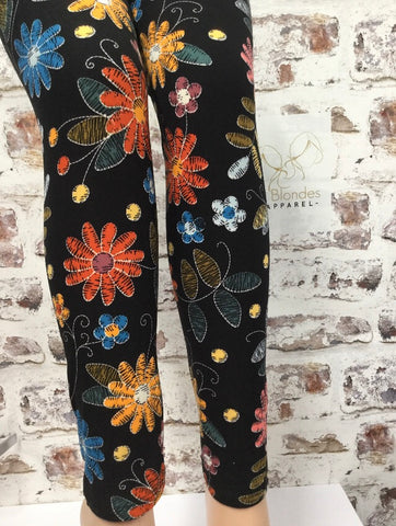 Extra Plus Fall Is Coming Printed Leggings