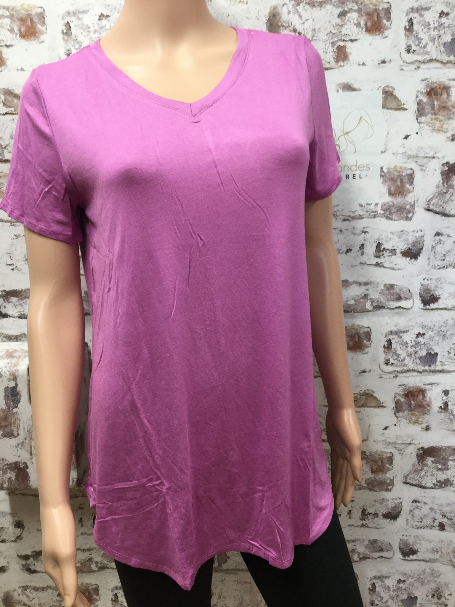 Orchid Round Bottom V Neck Top