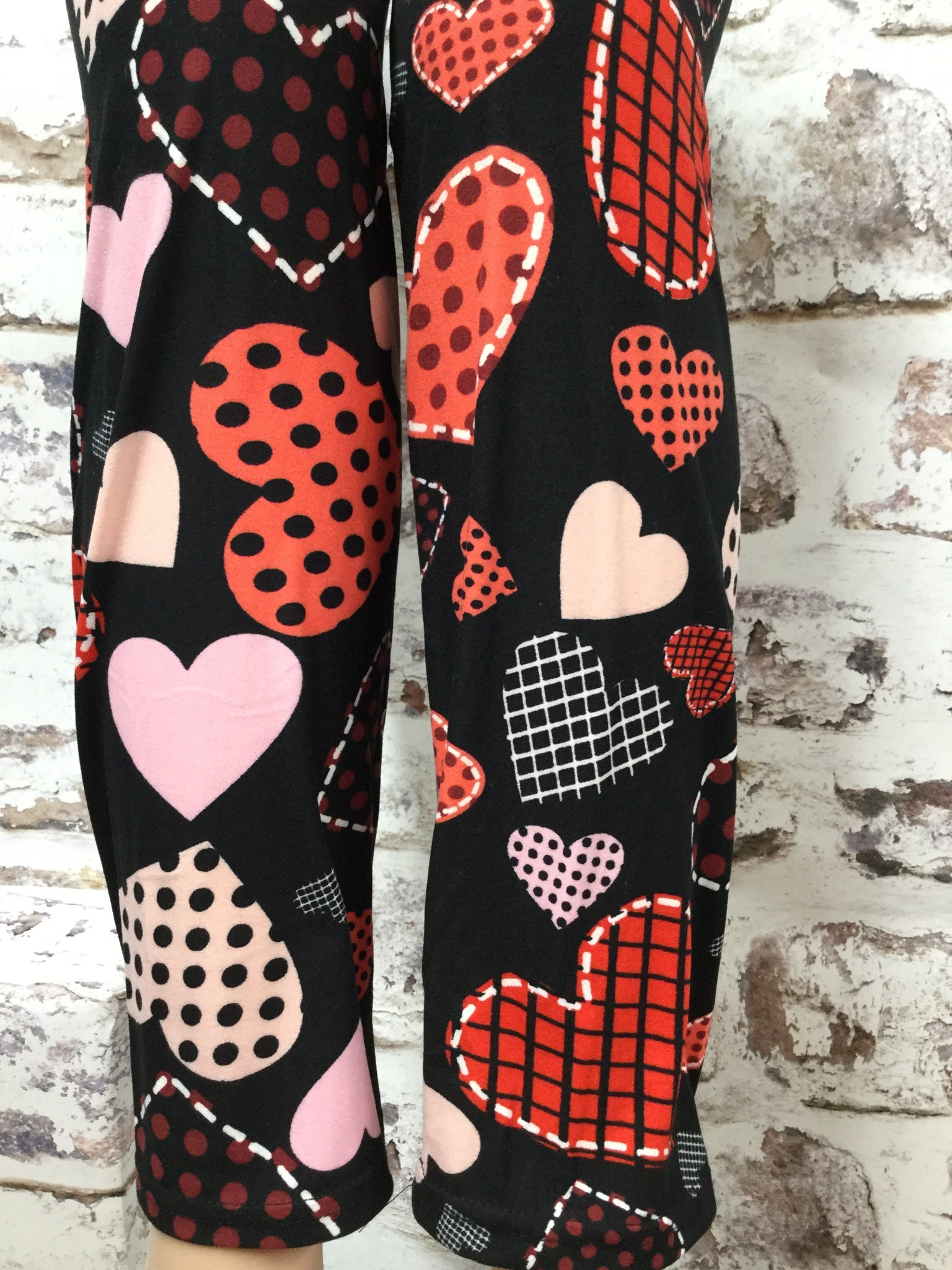 Extra Plus Patch Her Heart Printed Leggings