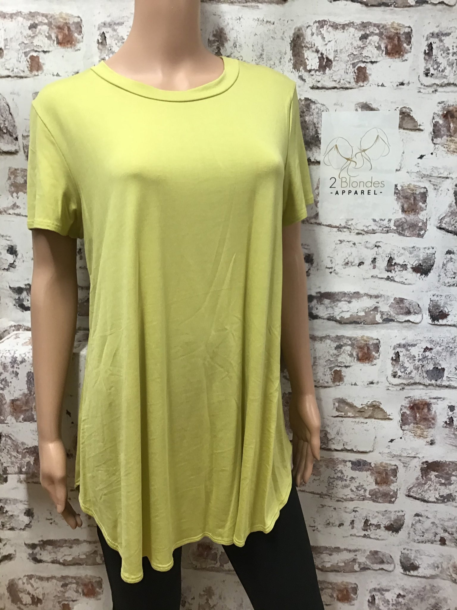 Plus Size Classic Yellow Top