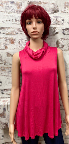 Plus Size Sleeveless Top with Built in Face Mask