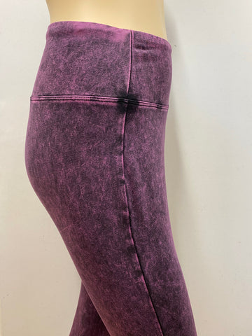 Blackberry Mineral Wash Leggings