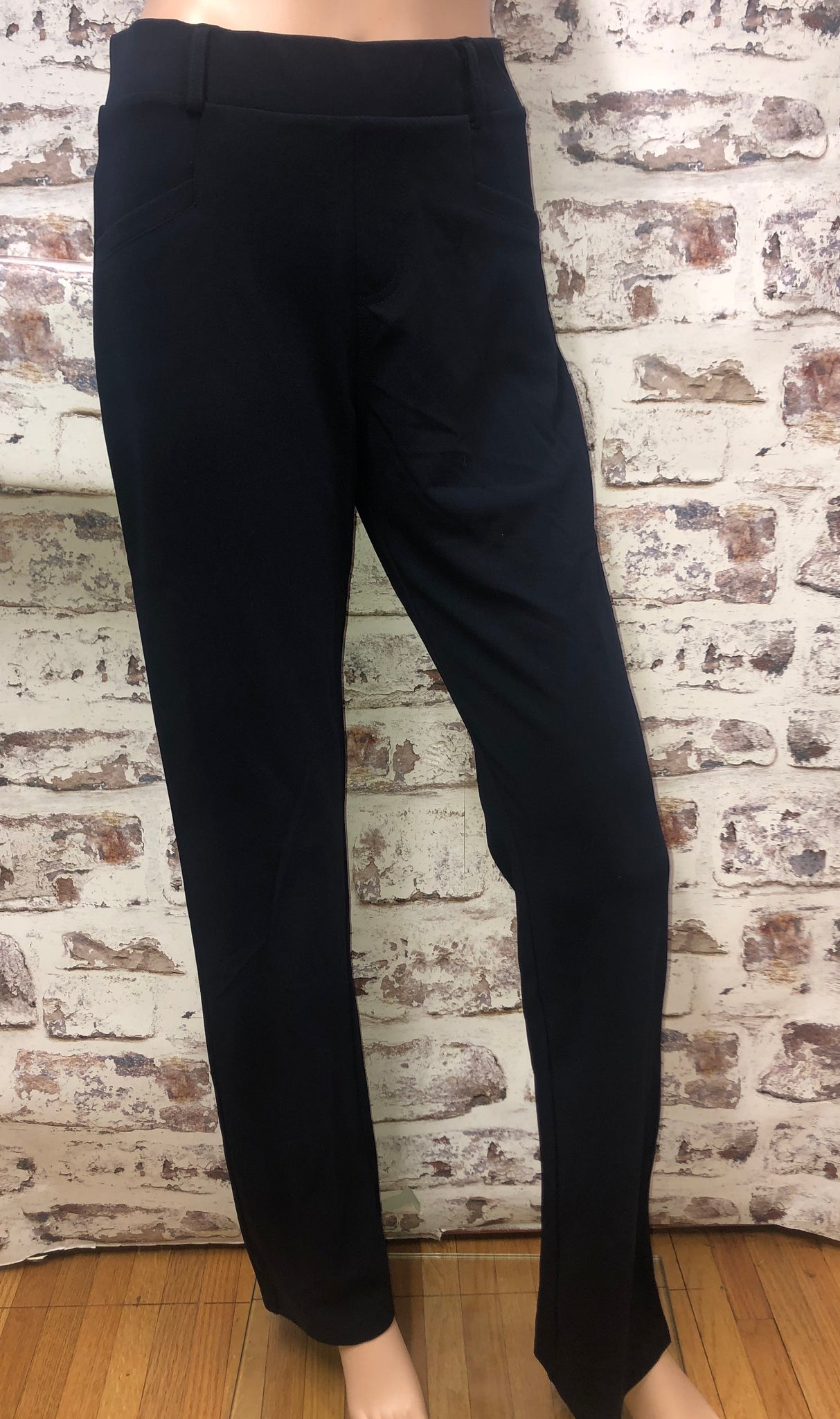 Navy Straight Cut Dress Pants