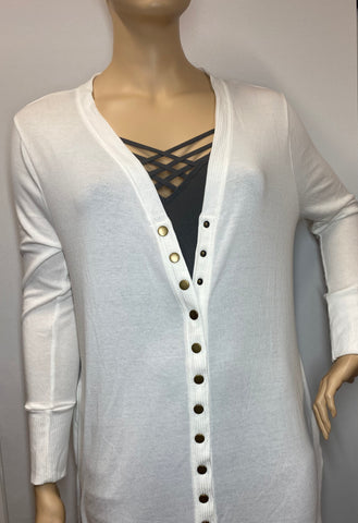 Plus Size Button Up Cardigan