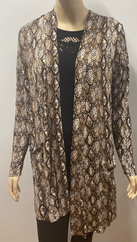 Snakeskin Cardigan with Pockets