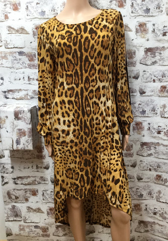Animal Print High Low Dress