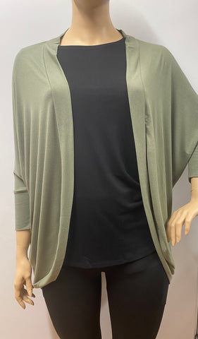 Plus Size Lt Olive Wrap Cardigan