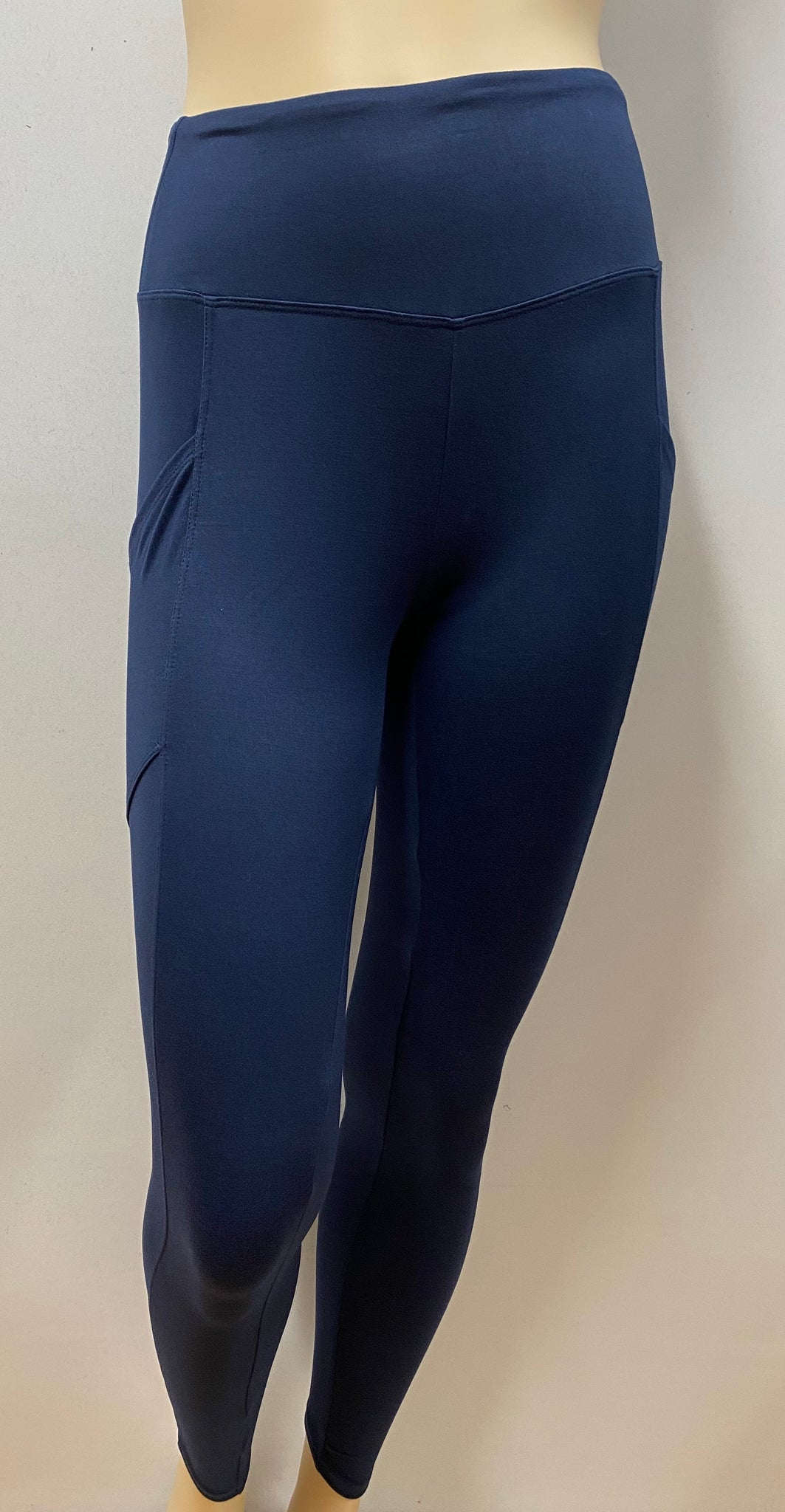 Navy Blue Pocket Leggings