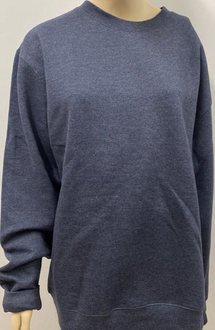 Plus Size Blue Oversized Sweatshirt