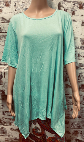 Extra Plus  Mint Shark Bite Tunic