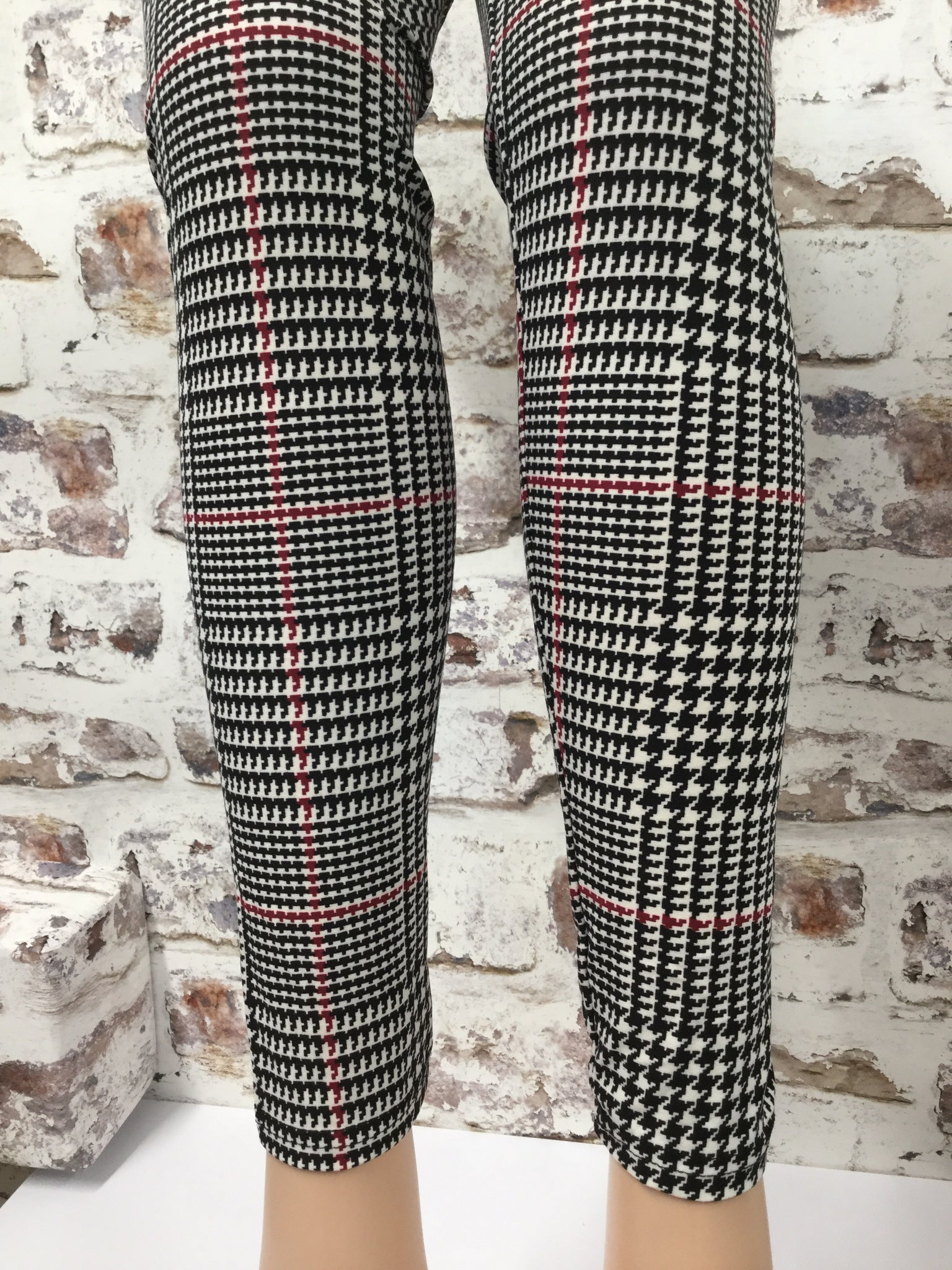Checkered Plaid Print  Leggings