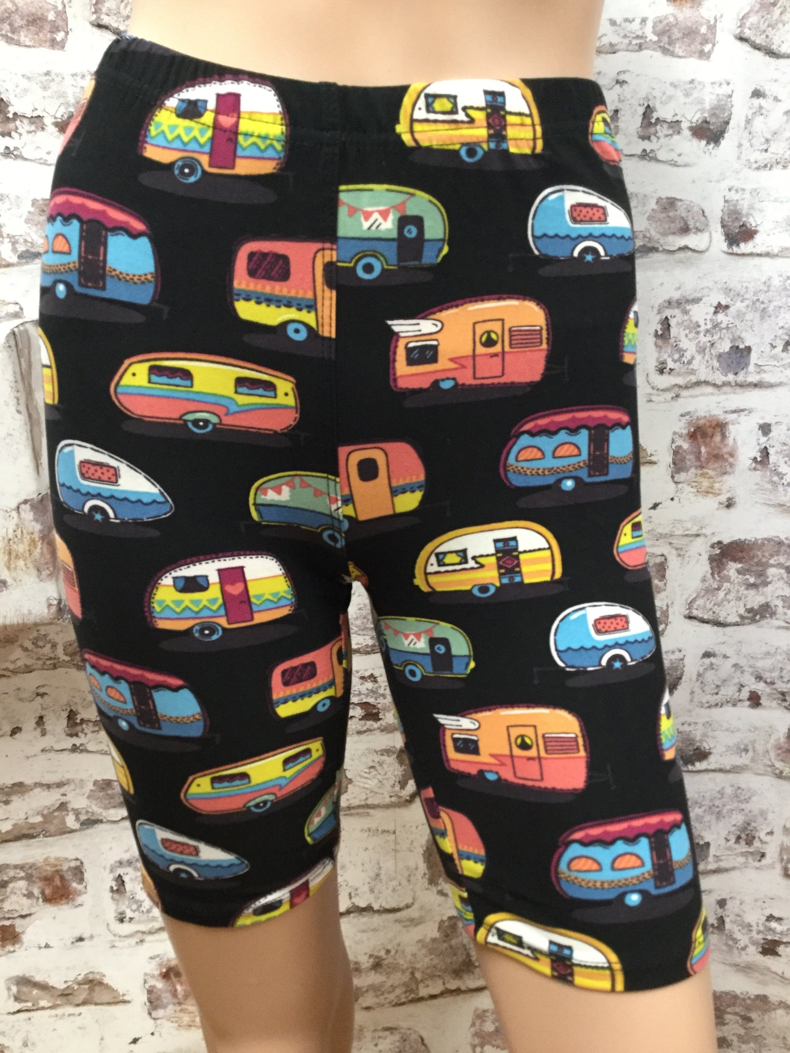 Camping Anyone Biker Shorts