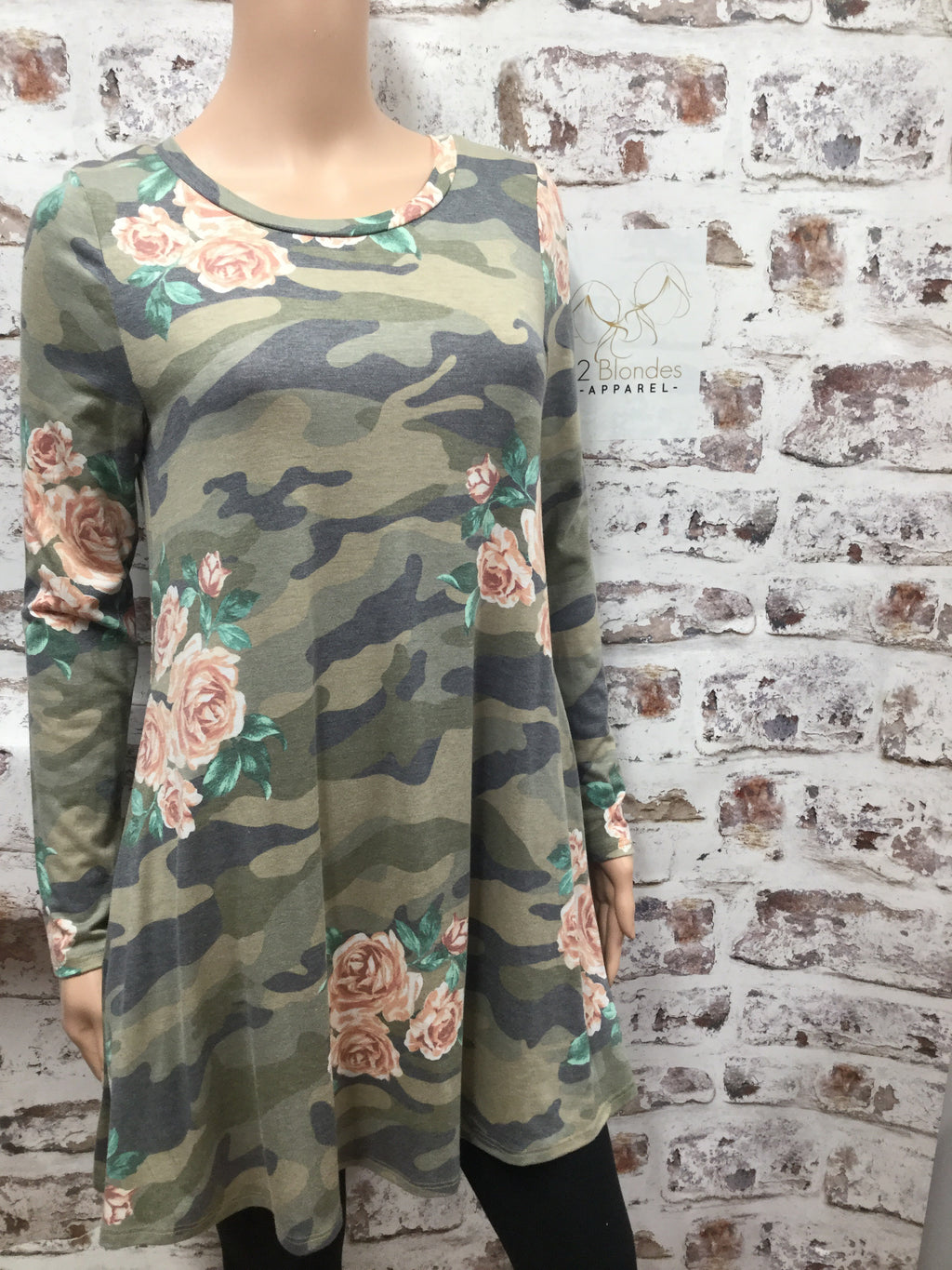 Army Floral Print Tunic