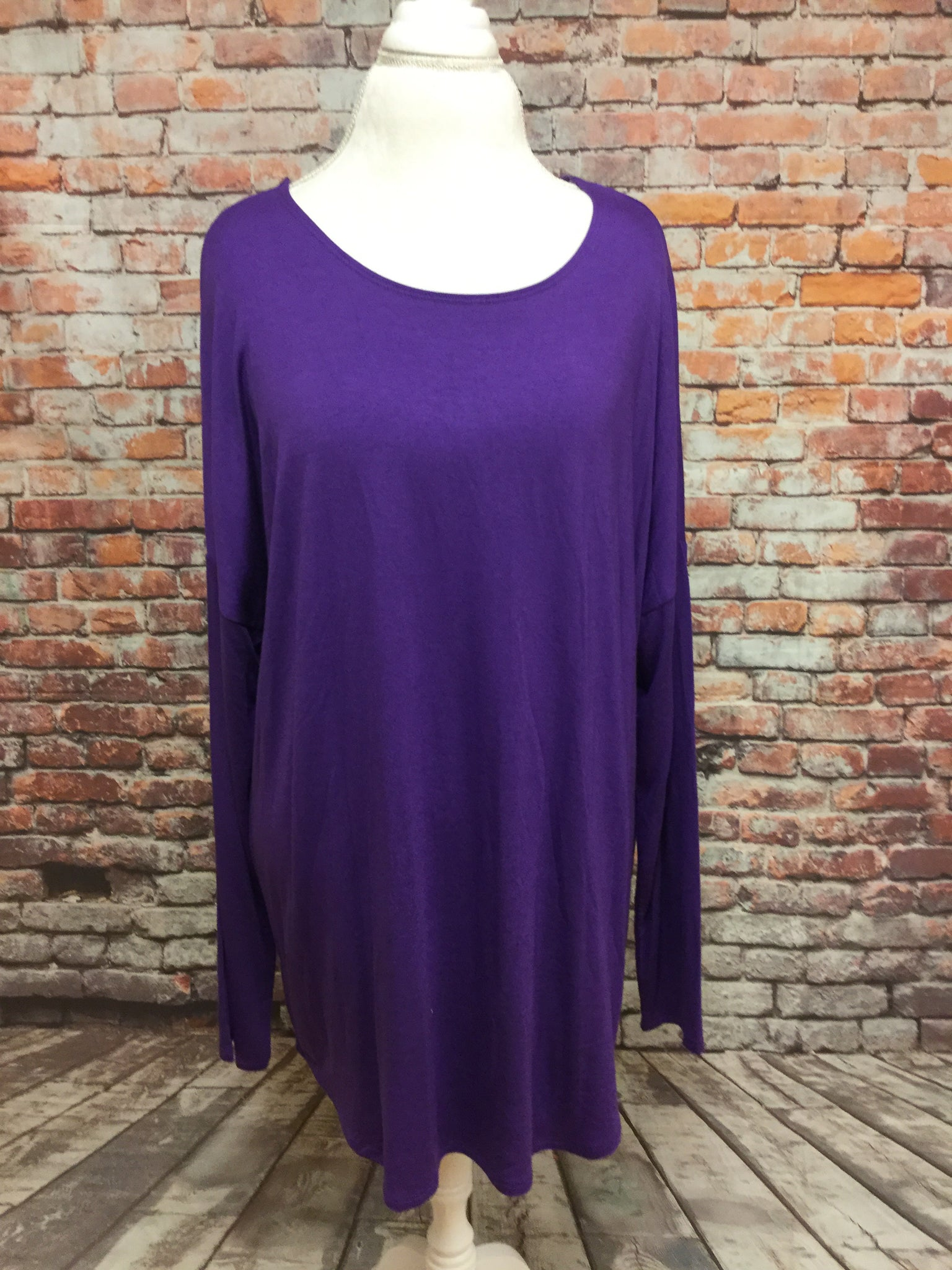 Long Sleeve Scoop Neckline Top