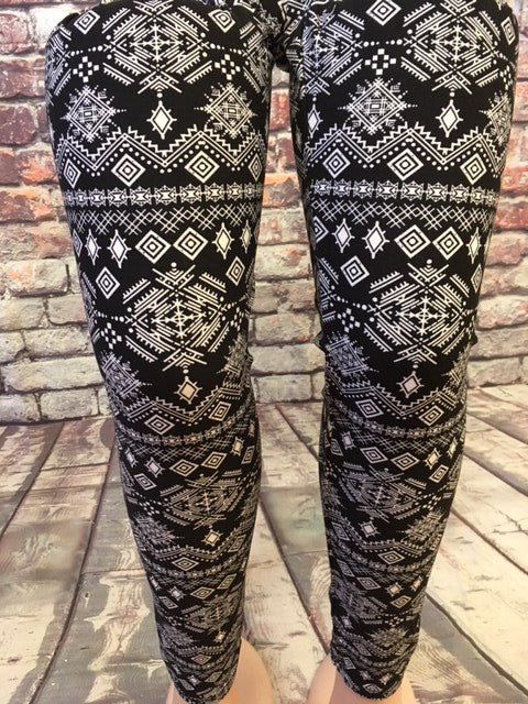 Scene of Sparkle Print Leggings