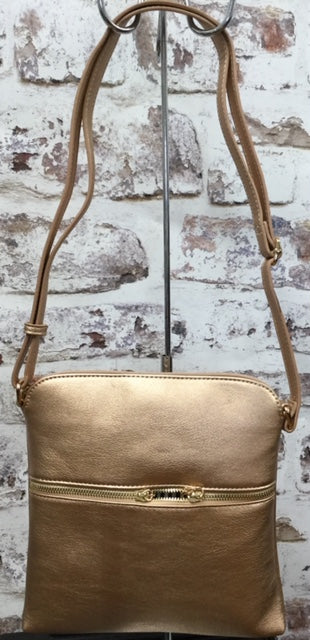 Rose Gold  Cross body Handbag