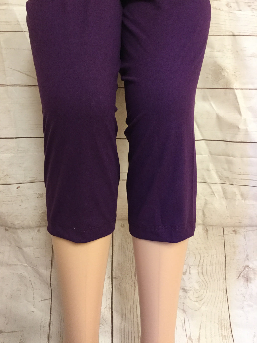 EXTRA PLUS Solid Purple Mid Calf
