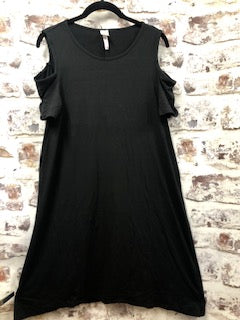 Cold Shoulder Black Dress
