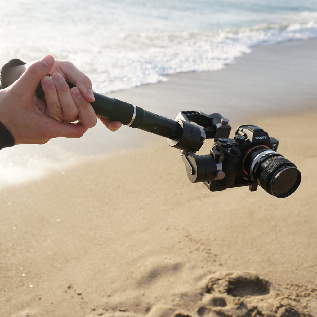 The beach is the best for photoshoots with the travel friendly Zhiyun Crane!