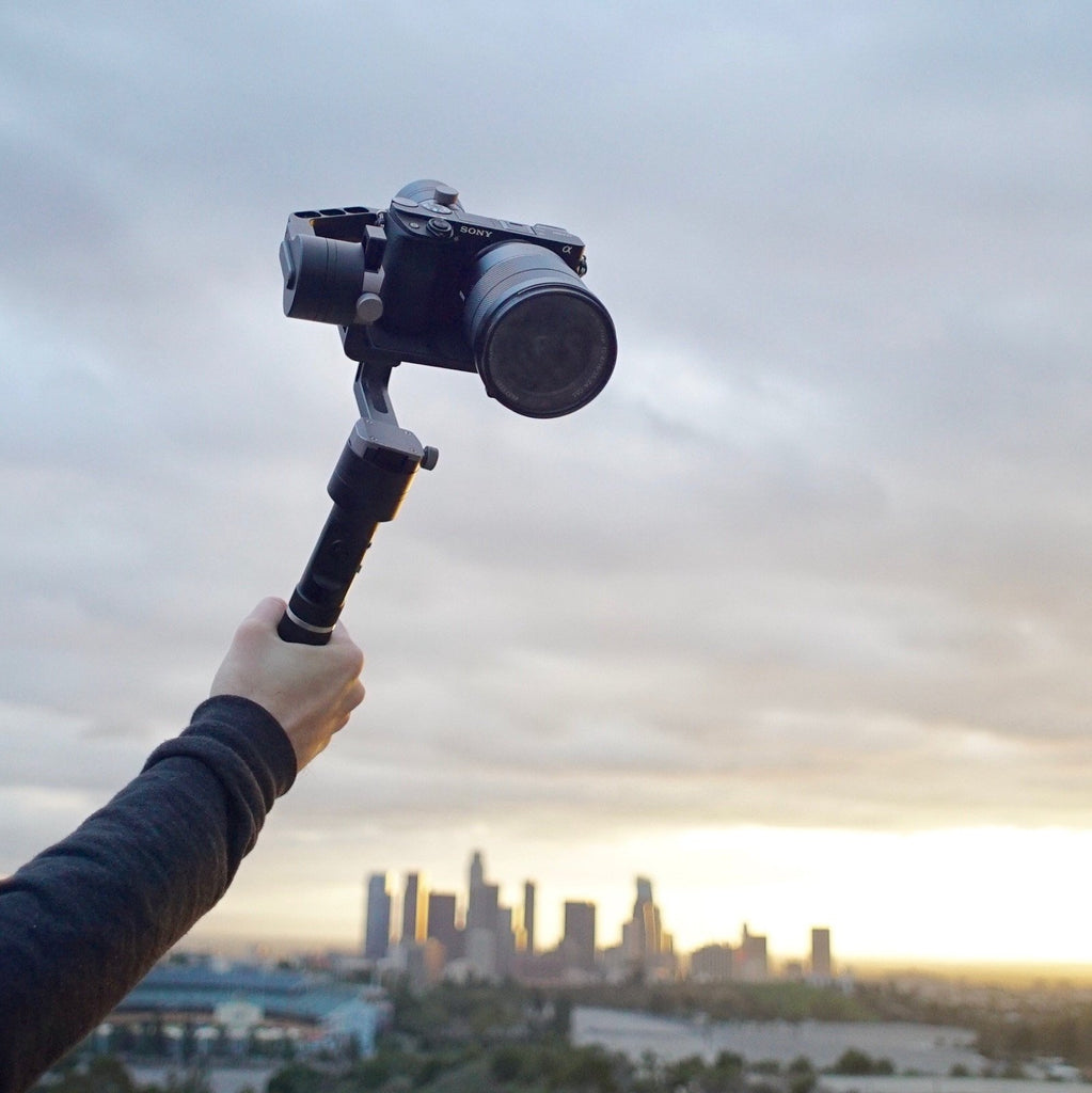 Zhiyun Crane gimbal stabilizer flies high above the city! Use code for $60 discount!