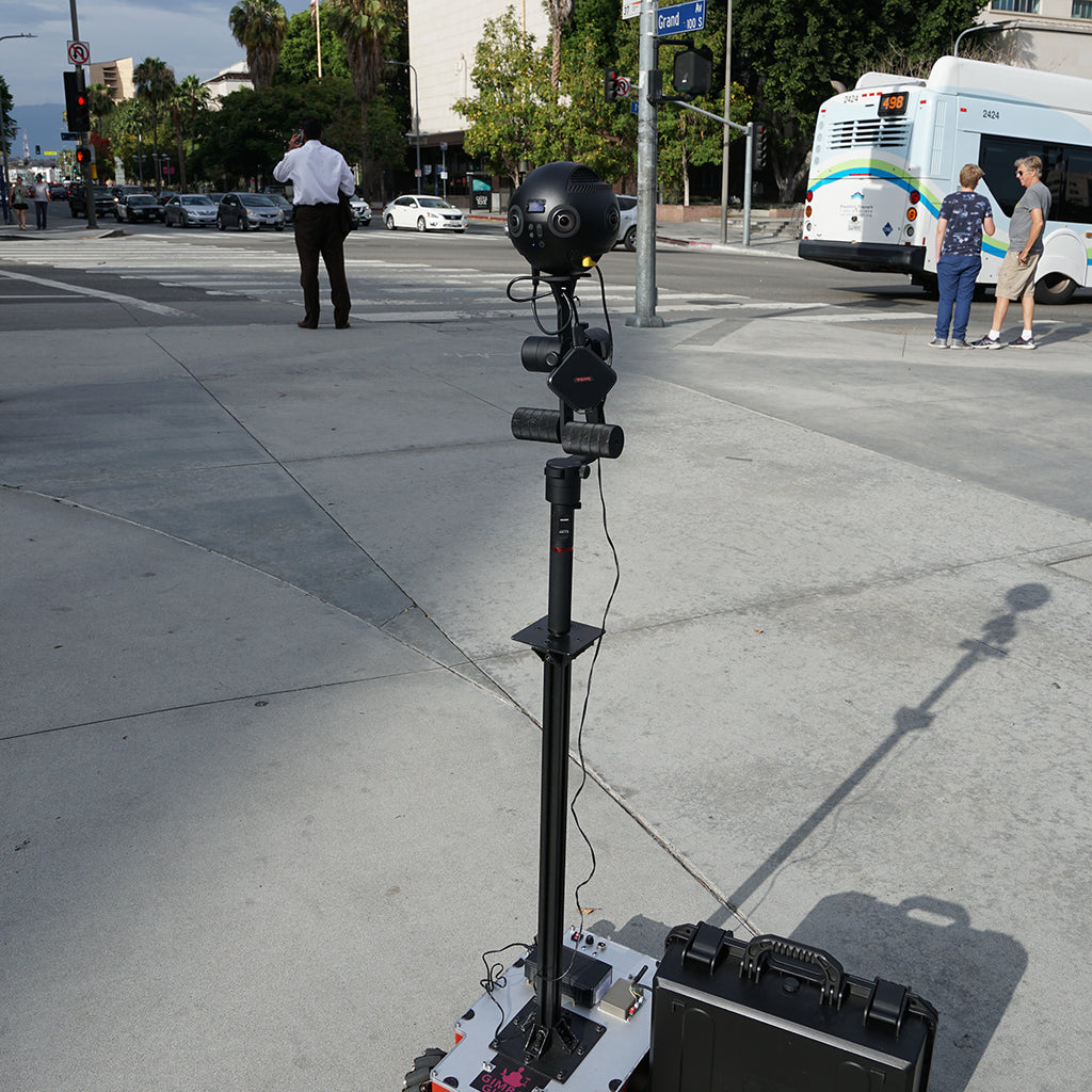 Test-driving Guru 360 Rover at USC Campus with Immersive Shooter!