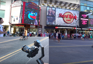 Visiting Hollywood Blvd. to learn how to Point And Lock with Beholder EC1 gimbal stabilizer!