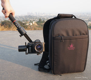 MOZA Air Camera Stabilizer strikes a pose with The Gimbal Bag!