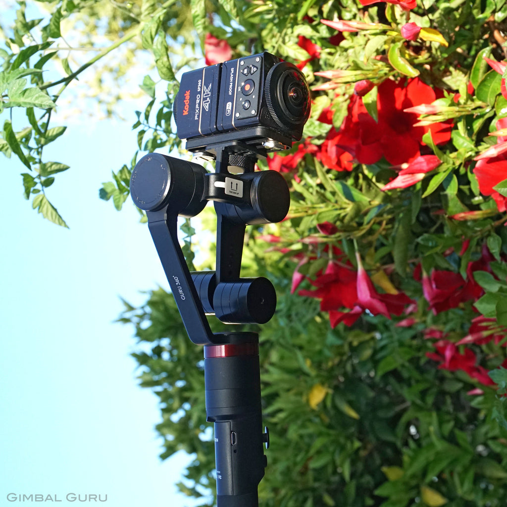 Everything is coming up roses with Guru 360° Gimbal Stabilizer and Kodak Pixpro SP360!