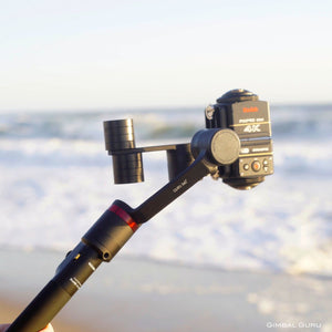 Guru 360° gimbal stabilizer and a Dual Kodak Pixpro SP360 Camera Setup film a beach day!