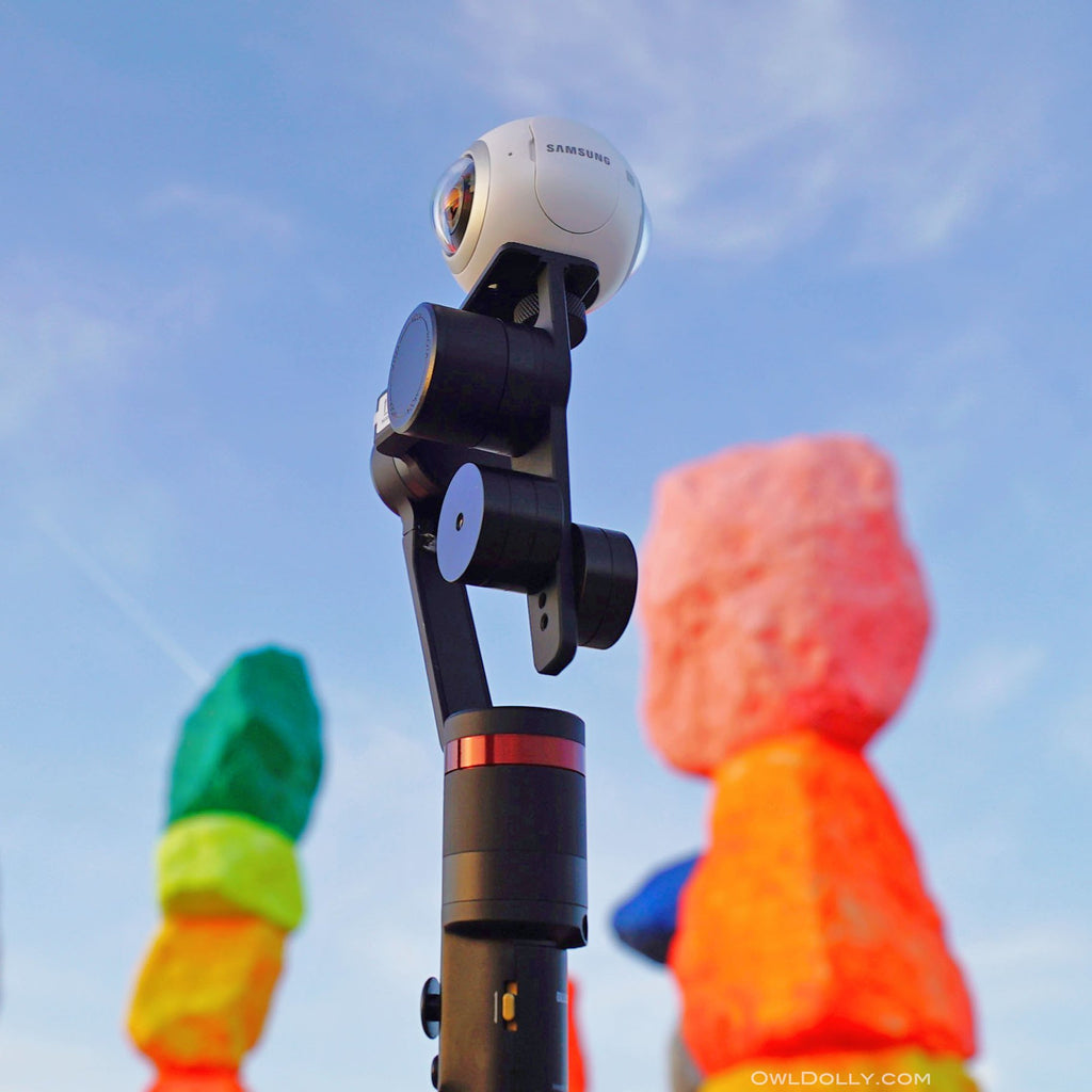 Capture the colors of Seven Magic Mountains with Guru 360 gimbal stabilizer and Samsung Gear 360!