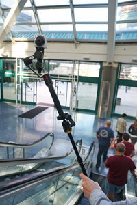 Riding high with Guru 360° mounted to a monopod!