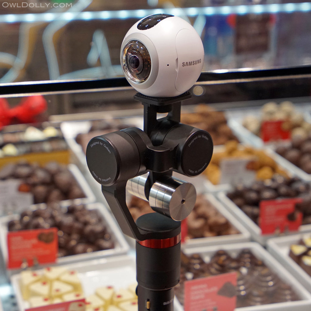 Treat yourself to Guru 360° gimbal stabilizer and Samsung Gear 360 camera combo!