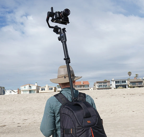 Pictured the Monopole Backpack, MOZA Air 2, Sony A7SII Action Camera 360 camera mirrorless camera