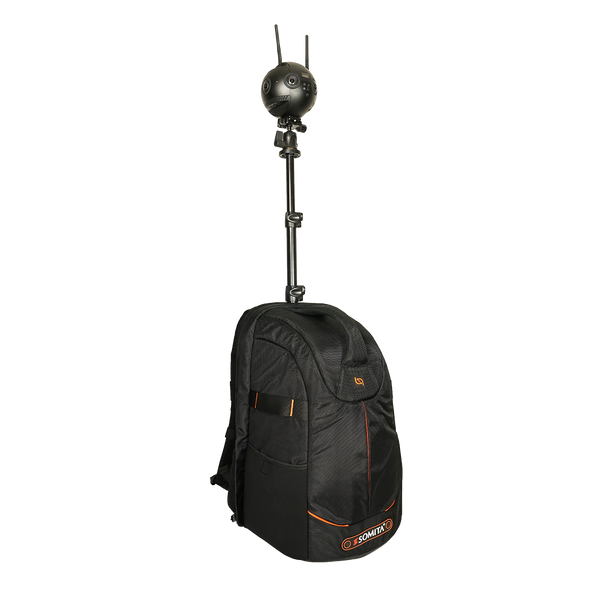 Monopole Backpack with Insta360pro 2, Tiny Planet, Little Planet, 360 Video
