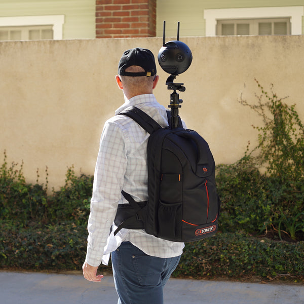 Pictured the Monopole Backpack, Insta360 One X, Insta360pro 2, Insta360 One X2, Insta360 One R, 360 Camera, 360 Tour, Google Street View, Virtual Tour, 360 Video, 360 View, Film 360, 360 Photo, 360 Photography, Aerial Photography, Tiny Planet, Little Planet, Flow State