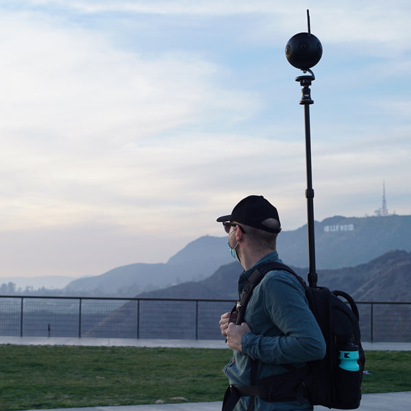 Monopole Backpack, Insta360 One X, Insta360pro 2, Insta360 One X2, Insta360 One R, 360 Camera, 360 Tour, Google Street View, Virtual Tour, 360 Video, 360 View, Film 360, 360 Photo, 360 Photography, Aerial Photography, Tiny Planet, Little Planet, Flow State, Virtual Visit, Hollywood Sign