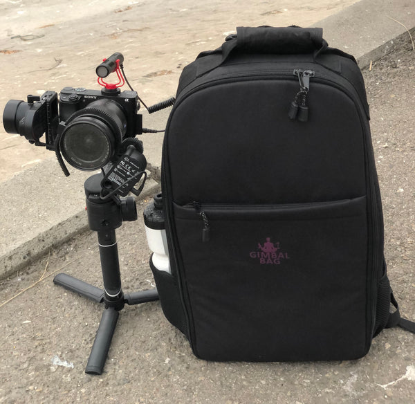 Gimbal Bag, MOZA AirCross 2, MOZA iFocusM, Sony A6300, Mirfak Audio N2 Mini Shotgun Microphone