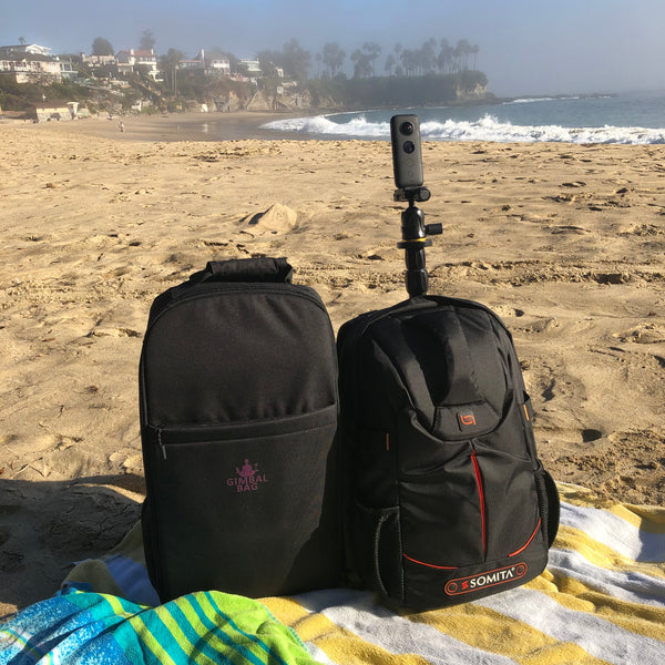Pictured the Gimbal Bag for $20, the Monopole Backpack, tiny planet, 360 camera, 360 Tour, Google Street View, Virtual Tour, 360 Video, Insta360 One, Insta360pro 2, Insta360 One X2, Insta360 One R.